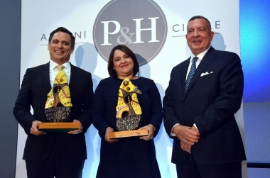 Attorneys Leonel Melo Guerrero, Luis Henry Molina and Elizabeth Mena recognized in the first P&H Alumni Circle Awards