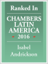 Senior Associate Isabel Andrickson ranked in Chambers Latin America 2016